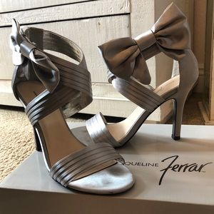 Silver bow (removable) heels